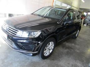 Photo n°1 de l'annonce de VOLKSWAGEN Touareg 3.0 V6 TDI 204ch BlueMotion Technology Carat 4Motion Tiptronic occasion de couleur BLEU MOONLIGHT à vendre à Millau
