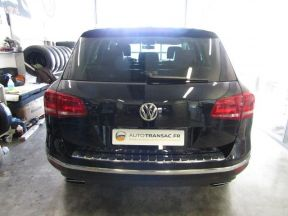 Photo n°10 de l'annonce de VOLKSWAGEN Touareg 3.0 V6 TDI 204ch BlueMotion Technology Carat 4Motion Tiptronic occasion de couleur BLEU MOONLIGHT à vendre à Millau